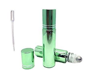 6 botellas de vidrio para rollo de 10 ml en botellas de perfume rellenable y aceites