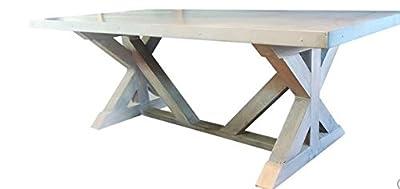 SDS DESIGNS 8Z38BRS 8' Zinc Belgium Farm Table, 8' , RUSTIC SAND