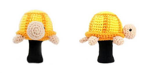 Amimono Turtleゴルフヘッドカバー B00ATRFR02  Yellow/Orange/Peach 460cc