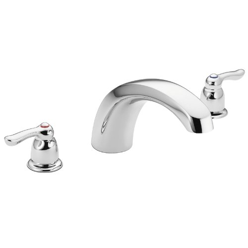Moen T990 Chateau Two-Handle Low Arc Roman Tub Faucet without Valve, (Chateau Two Handle Garden)