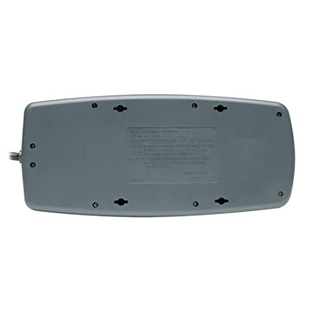 TLP1008TEL Tripp Lite 10 Outlet Surge Protector Power Strip 150,000 Insurance Tel//DSL Protection 8ft Cord RJ11