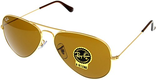 Ray Ban Sunglasses Aviator Gold Unisex RB3025 - Ray Discount Aviators Ban