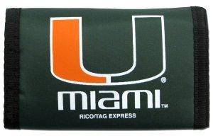 Miami Hurricanes Nylon Trifold Wallet