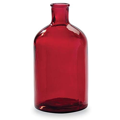 (Mud Pie Red Spanish Class Bottleneck Large Glass Vase,)