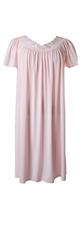 New Miss Elaine 100% Nylon Short Gown Pink 3 Extra Large Plus Size Pink Nylon Gown