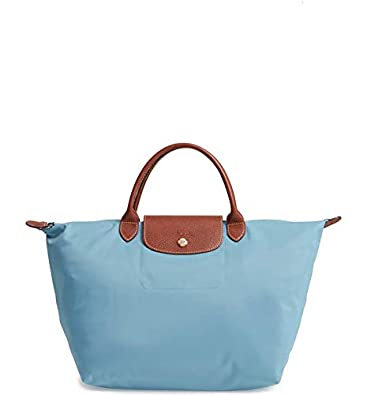 1cd1310fd12a Longchamp Women s Le Pliage Artico Light Blue Top Handle Tote Nylon Leather   Amazon.co.uk  Shoes   Bags