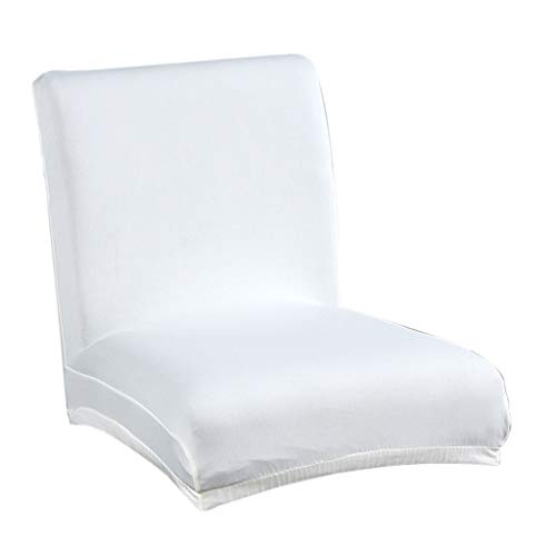 Flameer Solid Stretch Short Removable Dining Room Bar Stool Chair Cover Slipcovers - White
