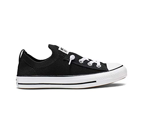 Converse Women's Chuck Taylor All Star Shoreline Knit Slip On Sneaker, White/Black, 5 M US