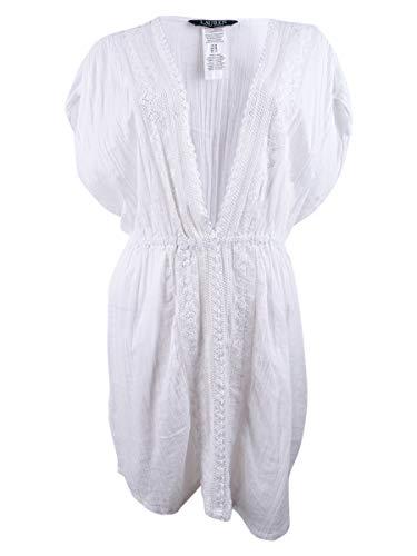 Lauren Ralph Lauren Cotton Lace-Trim Cover-Up (Large) -