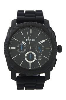 Fossil Fs4487p Machine Chronograph Black Silicone Watch Watch For Men