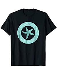 The Ocean is Calling and I Must Go Tshirt - Starfish, Teal