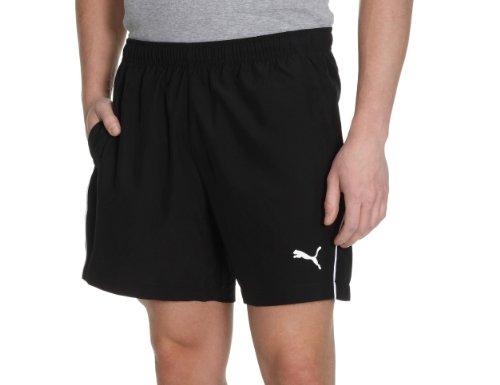 Puma Power 5 Woven - Sudadera de fútbol para hombre negro - blanco y negro