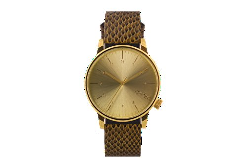 Watch Monte Carlo Leather (Komono KOM-W2554 Men's Winston Monte Carlo Brown, Gold Leather Band with Gold Dial Watch)