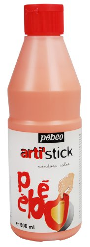 Orange Window Paint (Arti'Stick Repositionable Window Paint 500ml - Orange)