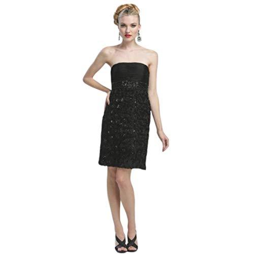 Sue Wong Strapless Rosette Empire Sheath Dress N3204 Black