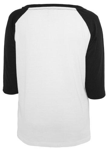 Urban Classics Ladies 3/4 Contrast Raglan Tee, white/black, XL