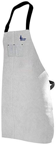Apron Economy Bib (Bob Dale Gloves 60133 Welding Apron Leather Bib Apron 24x36 Pearl Grey Economy,)