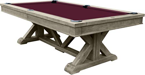 - Playcraft Brazos River 8' Slate Pool Table, Weathered Gray