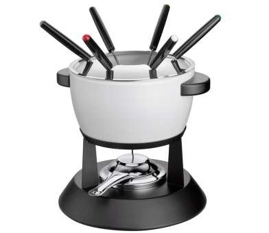 Küchenprofi Davos - Fondue Set with Pot, Forks and Burner - White
