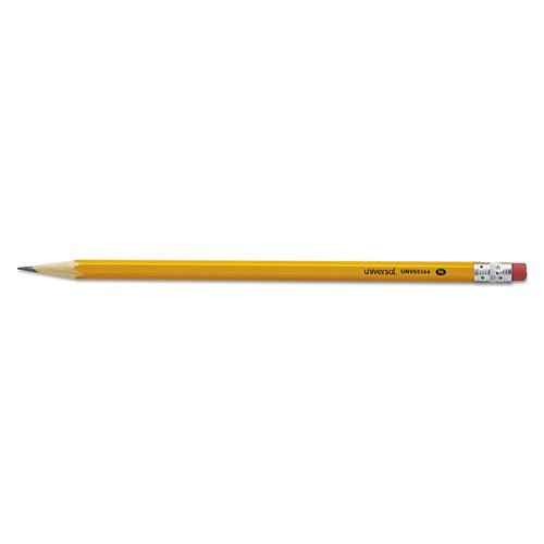 Case of 150 Packs,144 per pack, Universal,Woodcase Pencil, Hb #2, Yellow Barrel by Universal