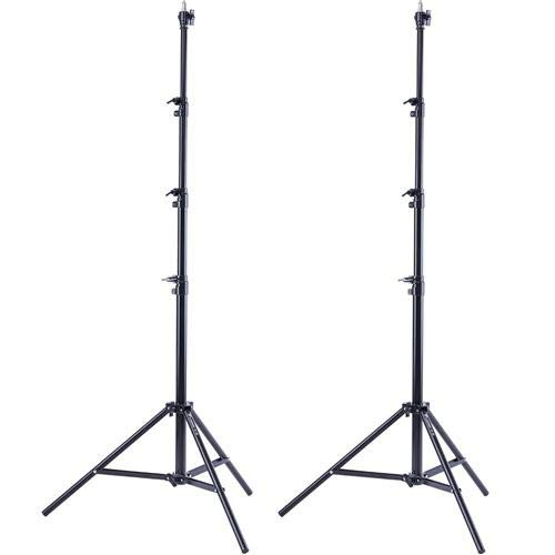 Flashpoint 2X Pro Air-Cushioned Heavy-Duty Light Stand (Black, 9.5') ()