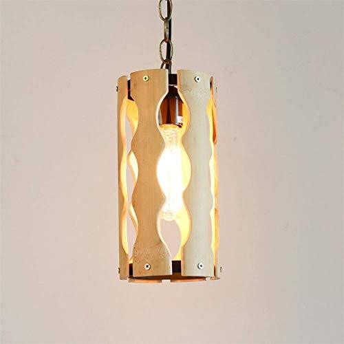 (Fashion Decorative Hanging Light, Bamboo Series Wood Fashion Decorative Hanging Light,Farmhouse Dining Room Inn Dining Room Lighting Fixtures, ChuanHan)