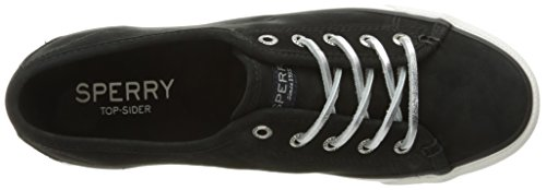 Sider Women's Top Black Leather Seacoast Sneaker Fashion Sperry Wash 5nSwg5x