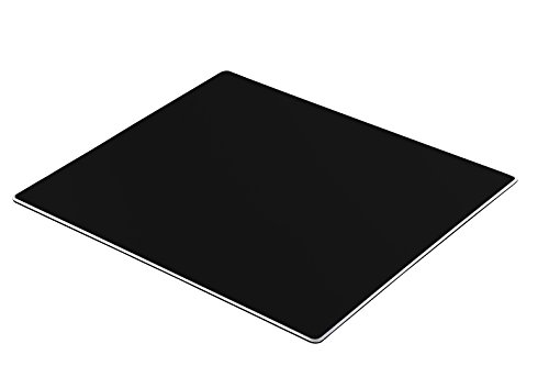 HOOSUN Gaming Aluminium Mouse Pad,Non-slip Flannel Base & Oxidized Surface Mice Mat for Fast and Accurate Control-Compatible Any Dpi Speed and Any Optical Laser Mice Gamer or Desktop
