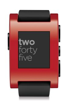 Pebble Smartwatch red 313go57tx4L
