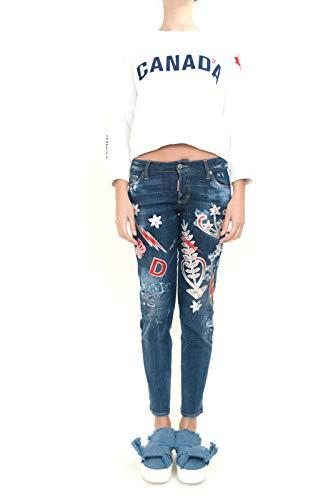 Jeans S72LA0963S30342470 Bleu Femme Dsquared2 Coton IOnqfXxw