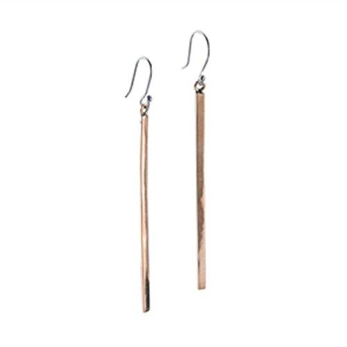 - 2.5 Inches Solid Copper Long Dangling Fishhook Earrings – Thin Real Copper 60mm Dangle Bar Earrings