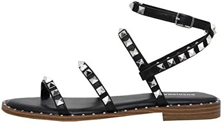 CUSHIONAIRE Women Tatum Studded Ankle Strap Sandal