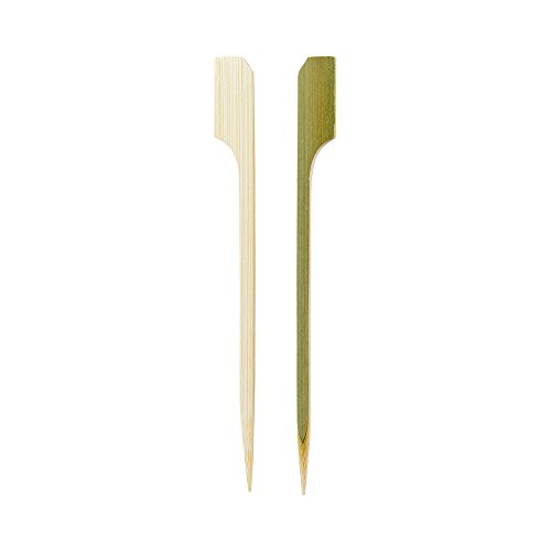 4-inch Bamboo Paddle Skewers: Perfect for Serving Appetizers and Cocktail Garnishes – Natural Color – 1000-CT – Biodegradable and Eco-Friendly – Restaurantware by Restaurantware (Image #4)