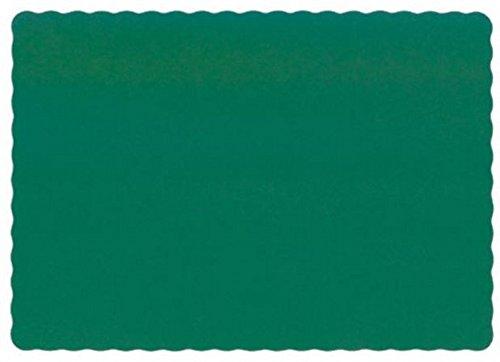 50 Hunter Green Paper Place Mats Scalloped Edge ()