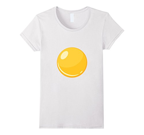 Bacon And Egg Halloween Costume Make (Womens Egg - Bacon & Egg Matching Halloween Costume Shirt Small White)