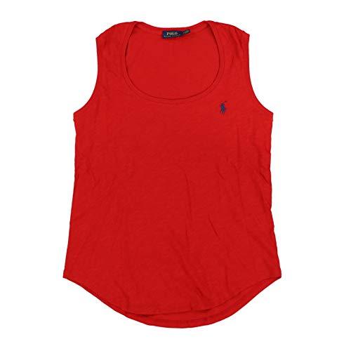 Polo Ralph Lauren Womens Tank Top (Medium, Red)