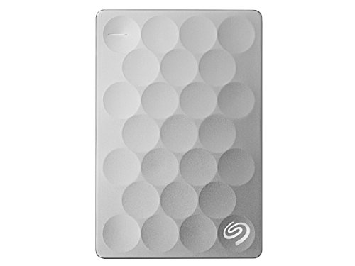Seagate Backup Plus Ultra Slim 2TB Portable External Hard Drive, USB 3.0 Platinum (STEH2000100)