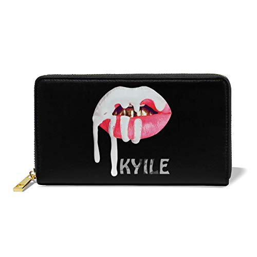 Large Leather Wallet Zipper Clutch Purse Kylie Jenner