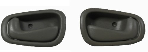 1999 Prism Chevy (1998-2002 Chevy Prizm Gray LH Left Hand Drivers and RH Right Hand Passenger Inside Door Handle Set 1999 2000 2001 Chevrolet Prism Driver / Passengers Indoor Han 98 99 00 01 02 Grey)