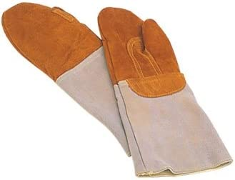 1 Pair Matfer Bakers Oven Glove / Mitt. Heat-Resistant Leather Padded Elbow-Length Glove / Pot Holder Safe to 572F