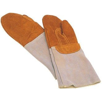 2 x Matfer Bakers Oven Gloves / Mitts. Heat Resistant Lea...