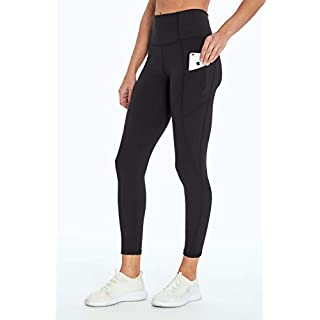 Jessica Simpson Sportswear Tummy Control Pocket Ankle Legging, Meteorite, X-Large