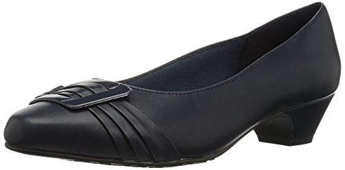 (Soft Style by Hush Puppies Women's Pleats Be with You Dress Pump, Navy, 12 W US)