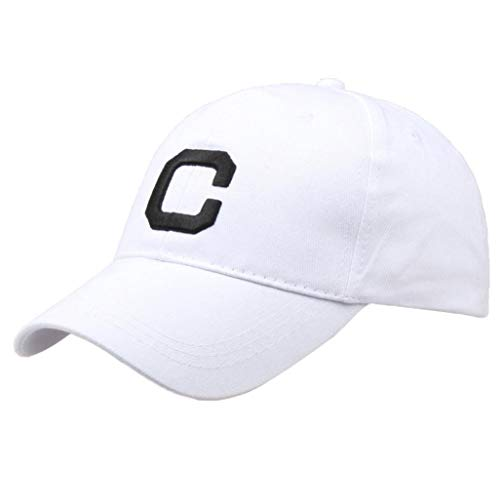 864dc728660 UJUNAOR Men Women Letter Hats Hip-Hop Adjustable Baseball Cap(Black )   Amazon.co.uk  Clothing