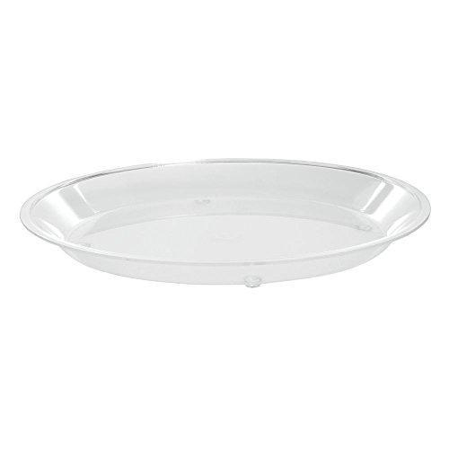 Cal-Mil Round Acrylic Dry Sampling Tray - 10'' Dia x 1'' D by ALC