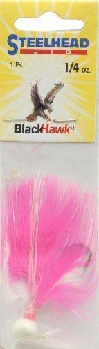 Danielson Steelhead Jig Fishing Equipment, 1/4 oz, Pink/White (Fishing Steelhead Jig)