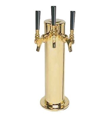 PVD-Coated-Stainless-Body-Triple-Faucet-Beer-Tower-Polished-Brass-Look-by-Chill-Passion