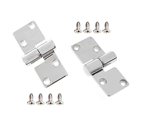 316 Stainless Steel Left & Right Lift-Off/Take-Apart Hinge Marine Boat Door Furniture Heavy Duty w/Screws (1 Pair) ()