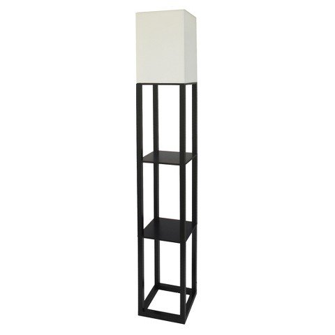 r Lamp with White Shade - Black ()