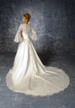 Victoria\'s Bridal #8023 Ivory/Gold Size 16 Bridal Gown Wedding ...